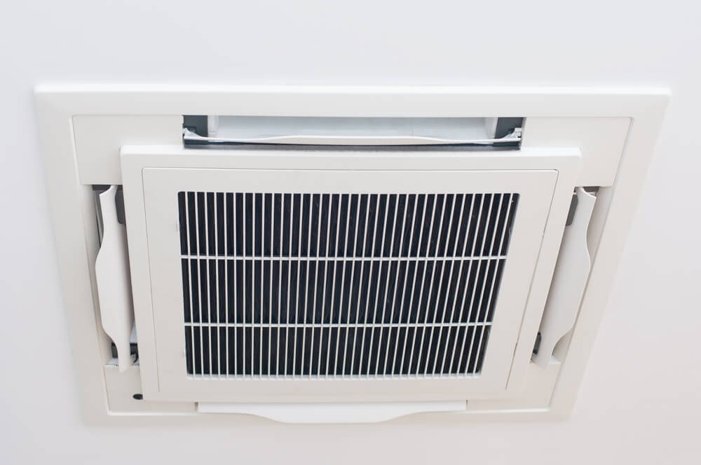 Modern ceiling air condition install