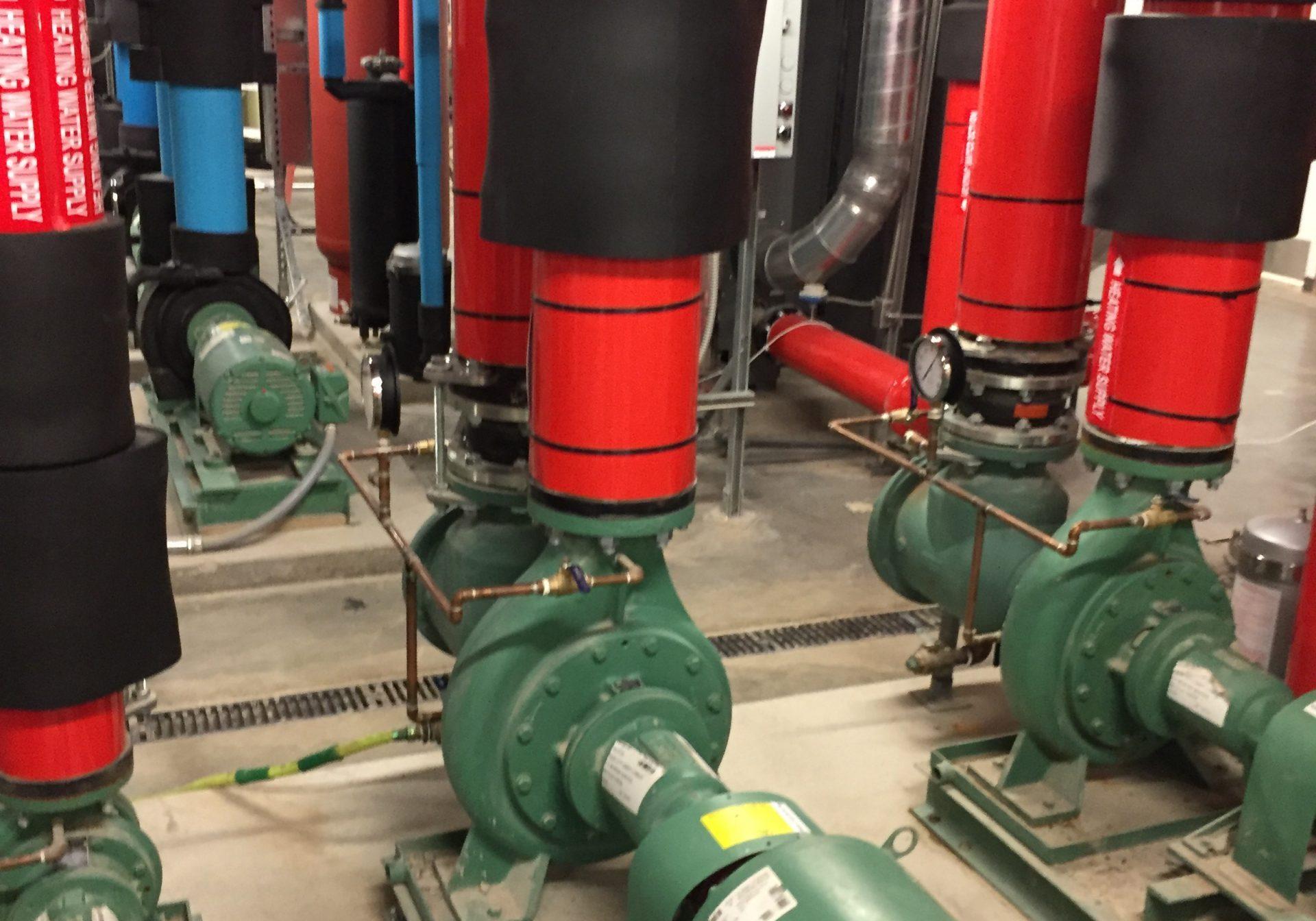 Boiler room of a plumbing system